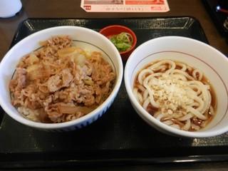 なか卯 - 和風牛丼&小うどんセット