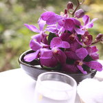 ウエスト青山ガーデン - テーブルの上には蘭の花が飾れていておもてなしの心を感じます。