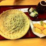 有楽庵 - 天ぷらも美味しいから蕎麦が入る入る