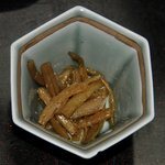 玉翠楼 - 小鉢(サツマイモの茎煮)