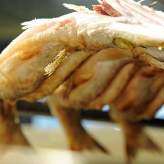 五丁目 千 きいろ - 料理写真:炭火で焼かれる地魚