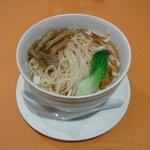 上海大飯店 - チンゲン菜とザーサイの麺