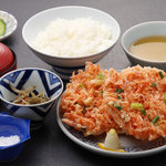 よし川 - 料理写真:桜えびのかき揚げ定食 1,360円
