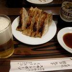 スヰートポーヅ - 餃子 小皿 & ビール