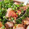 地鶏屋ごくう 華 - 料理写真:【鶏もものたたき】日刊ゲンダイ覆面記者も絶賛の鶏創作料理