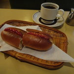純喫茶 車 - コーヒー&ホットドックのセット