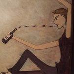 MA MAISON - 壁に描かれた絵がオシャレです。