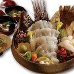 矗々家 - 平目一尾づくし~造り・握り寿司・天ぷら・お吸い物~  1480円