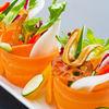 九頭龍蕎麦 - 料理写真:雲丹ひしおで召し上がる 薄切り野菜のおつまみサラダ