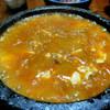 居酒屋仁や - 料理写真:とっても辛い!ぐつぐつ石焼麻婆豆腐