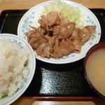苗場 - 12/2011生姜焼き定食900円