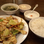 10766380 - 日替り定食(回鍋肉、750円)