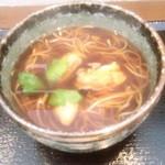 十割蕎麦 安曇野 - 牡蠣そば(期間限定)