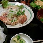 たいしょう亭 - 日替わり定食(若鶏ネギ塩焼き)\850
