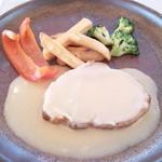 ビストロ備前 - ビストロ風ローストポーク生姜とリンゴのクリームソース