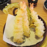 回転寿司喜楽 - えび天ぷら \350