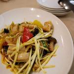 竹爐山房 - 竹爐コース:黄ニラと帆立の辛味炒め