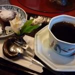 茶房 てまり - ケーキセット(コーヒー・ショコラ)①■\735-■