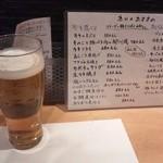 相仙 - 生ビールと本日のおすすめメニュー