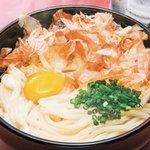 六車 - 料理写真:当店オリジナルの釜抜きうどんです。かつお風味と卵とうどんが絡み合った、カルボナーラのような食べ方でお楽しみ下さい。