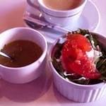 C'EST BON PLAGE - 2011年12月27日 ランチA ガレットセット コーヒー スープ サラダ