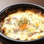 龍屋 - 福岡の門司港が発祥とされる焼きカレーです!!のっかっている温玉とチーズを絡めて召し上がれ!