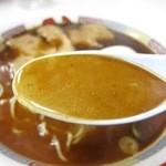 蜂屋 - しょうゆラーメン スープ