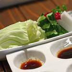 串揚げ 串の実 - 生野菜