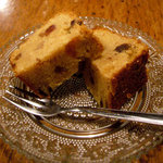 七つ森 - セットの「フルーツケーキ」(プルーン、レーズン、オレンジピール、くるみ、ラム酒