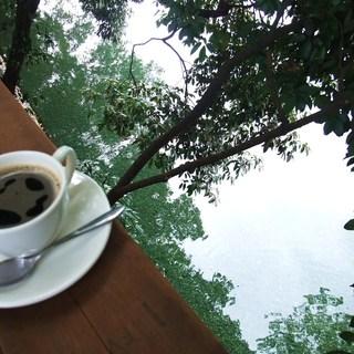 阿里山cafe - 手すりにおいてみました。