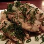 あまからくまから - 「佐助豚の天ぷら ねぎみぞれポン酢」:旨みが凝縮し、昇華された痛快なひと皿!