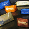 Caffarel Cioccolate - 料理写真:チョコ類。青:ジャンドゥーヤ ビター、金:ジャンドゥーヤ、オレンジ:シナモン、茶:コーヒー。