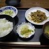 喜久屋 - 料理写真:A定食(500円) ご飯・味噌汁・お新香・ミニポテサラ・豚の生姜焼き(ハーフ)