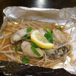 お好み焼き 仁 - 牡蠣のホイル蒸し