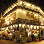 中野ウロコ本店 - イカ釣り船のような外観が目印!