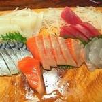 魚一心 - 刺身盛り合わせ、3000円ぐらいです。