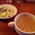 11148089 - サラダ、スープ付き