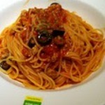 La Pausa - 日替わり500円 サルシチャとオリーブのトマトソース