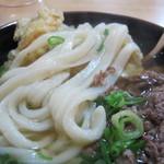 うどん平 - 麺のアップ(肉ごぼう)