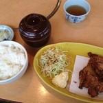うみえーる つくみんち - まぐろ竜田定食700円です。