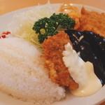 レストランito - Cランチ(白身フライ、ハンバーグ、ミニカツ)