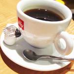トラットリア・ピアノ - ホットコーヒー。'12 1月