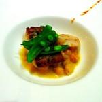 11270693 - スズキとホタテのオーブン焼き・スパイスとエシャロットのソース