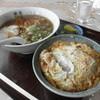 源海食堂 - 料理写真:セットメニュー:とんかつ+ラーメン 800円