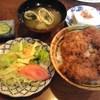 ひょうたん茶屋 - 料理写真:ひれかつソースかつ丼セット