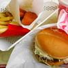 ロッテリア - 料理写真:エビバーガー ポテトMセット \620 + からあげっと