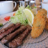 オイスタン - 料理写真:牛タンとカキフライのコンボ♪