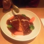 キッチンカフェ ユリシス - びっくりチーズハンバーグ