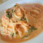 クッチーナ・イタリアーナ・スタジオーネ - ランチ・ホタテと水菜のトマトクリームソース