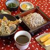 戸隠そば 成木屋 - 料理写真:天丼セット(天丼・小鉢・お新香・果物・そば又はうどん)   1,200円